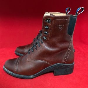 Ariat Shoes - Ariat Burgundy Leather Lace Up Paddock Boots 56661